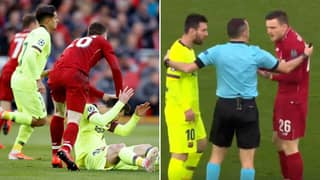 Andy Robertson Reveals He Regrets Shoving Lionel Messi At Anfield