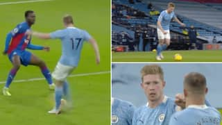 Kevin De Bruyne's Outside Of The Foot Assist Is Genuinely One Of His Best For Manchester City