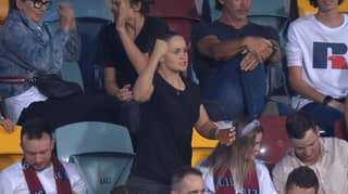 Aussie Fans Are Frothing Over This Video Of Ash Barty At The Footy With A Beer-In-Hand