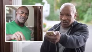 Mike Tyson Gave Evander Holyfield A Piece Of His Ear Back In The Worst TV Advert Ever