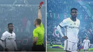 VAR Overturns Second Yellow Card, Player Returns From Dressing Room Just To Receive Straight Red