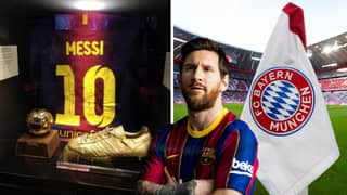 Lionel Messi Has A Small Section Dedicated To Him Inside Bayern Munich's Allianz Arena