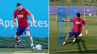 Lionel Messi Returns To Training After Deciding To Stay At Barcelona