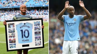 Vincent Kompany To Donate All Profits From His Testimonial To Manchester's Homeless