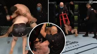 Fighter Falls Out Of Octagon In One Of The Most Bizarre UFC Finishes