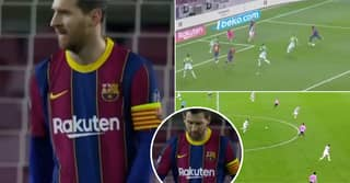 Lionel Messi Is Shown Being Failed By Barcelona Teammates In Worrying Footage