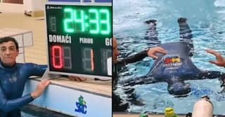 Diver Sets World Record Holding Breath For 24 Minutes And 33 Seconds Underwater