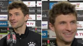 Thomas Muller Makes Incredible 'Windy Night In Stoke' Reference In Post-Match Interview