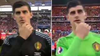 Why Thibaut Courtois Always Touches His Chin During The Belgium National Anthem