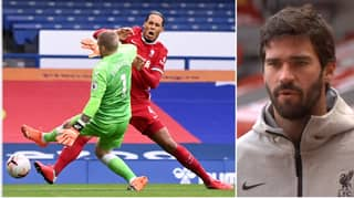 "Alisson Slams Jordan Pickford For ""Unnecessary"" Tackle On Virgil van Dijk"