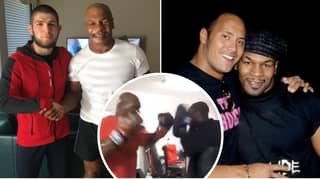 Khabib Nurmagomedov And The Rock Stunned By Mike Tyson's Training Video