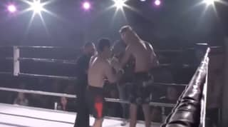 WATCH: Fighter Helps Opponent Pop His Dislocated Shoulder Back In Place
