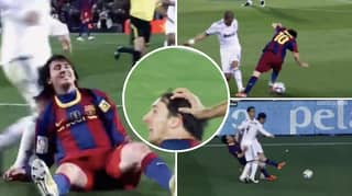 Compilation Of Lionel Messi Getting Assaulted By Real Madrid Players Shows What He's Made Of