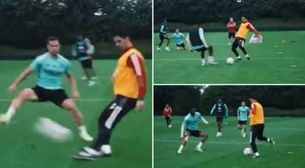 Arsenal Fans Call For Mikel Arteta To Re-Sign As A Player After Training Footage Emerges