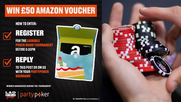 How You Can Win A £50 Amazon Voucher Just By Entering A Poker Tournament
