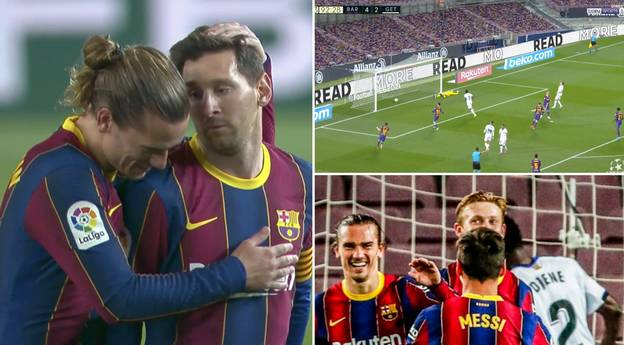 Lionel Messi Selflessly Gives Up Hat-Trick To Let Antoine Griezmann Score In Remarkable Gesture