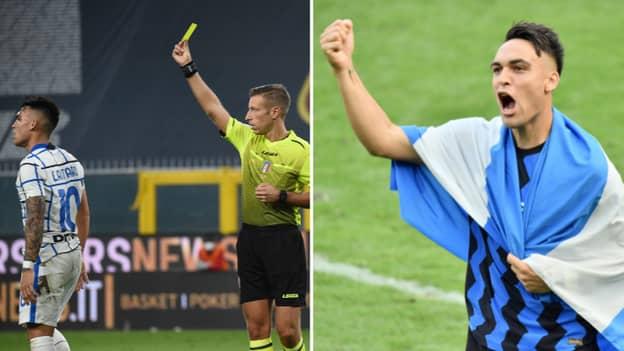 Inter Milan Striker Lautaro Martinez Had To Consult Psychologist Over Yellow Cards