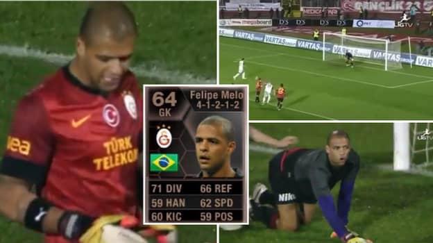 When Brazilian Midfielder Felipe Melo Was Given In-Form Goalkeeper Card On FIFA
