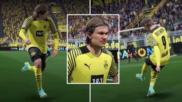 Erling Haaland's Unorthodox Run Has Been Captured Perfectly In FIFA 22