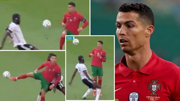 Cristiano Ronaldo Blasted As A 'Fool' After Showboating Skill Against Antonio Rudiger In Portugal Defeat