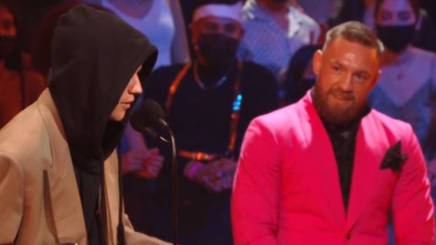 Justin Bieber Tips Conor McGregor To Beat Dustin Poirier In VMAs Acceptance Speech