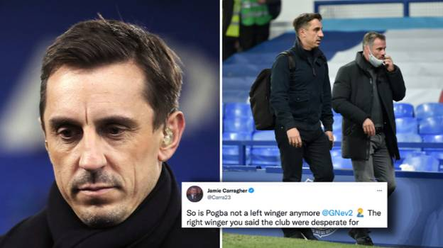 Gary Neville Shares His Strongest Manchester United Starting XI During Twitter Q&A, Jamie Carragher Rips It Apart