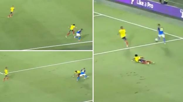 Raphinha Produces Outrageous Moment Of Skill For Brazil Against Colombia