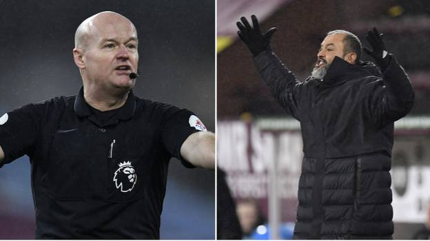 Nuno Espirito Santo Launches Astonishing Attack On Lee Mason After Wolves' Defeat To Burnley