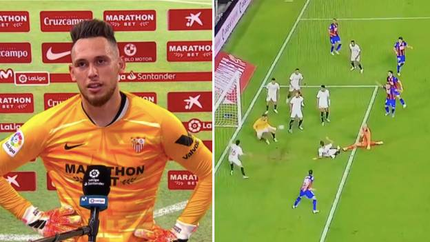 Sevilla Winger Lucas Ocampos Forced To Go In Net, Denies Eibar Goalkeeper With 100th Minute Save