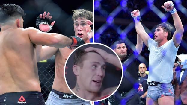 Darren Till Gives An Incredibly Emotional Interview After Beating Kelvin Gastelum At UFC 244