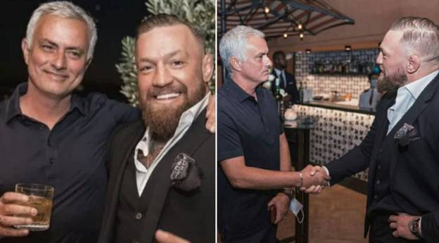 Roma Boss Jose Mourinho Gives Gift To Conor McGregor As The Pair Share A Drink Together