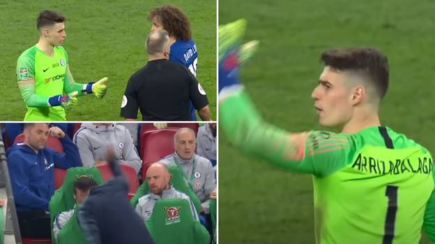Kepa Has Finally Explained His Famous 'Manager' Moment During The Cup Final In Honest Interview