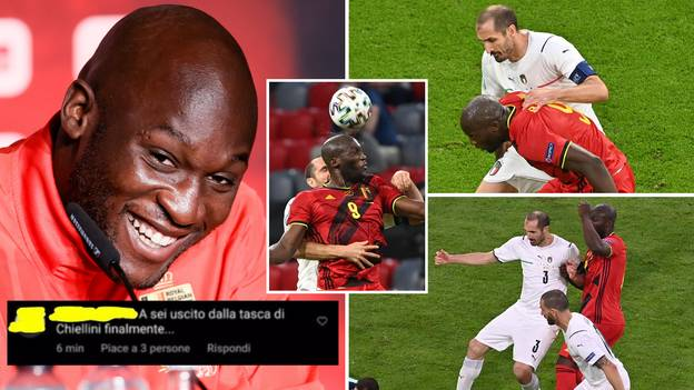 Romelu Lukaku Savages Fan Who Asked If He Had 'Finally Left' Giorgio Chiellini's Pocket, Then Deletes Comment