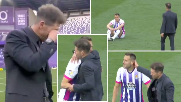The Classy Moment Diego Simeone Walks Across Pitch To Console Real Valladolid Player After Atletico Madrid Win