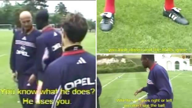 Incredible Training Ground Footage Shows France Players Discussing How To Stop 'R9' Ronaldo Before WC Final
