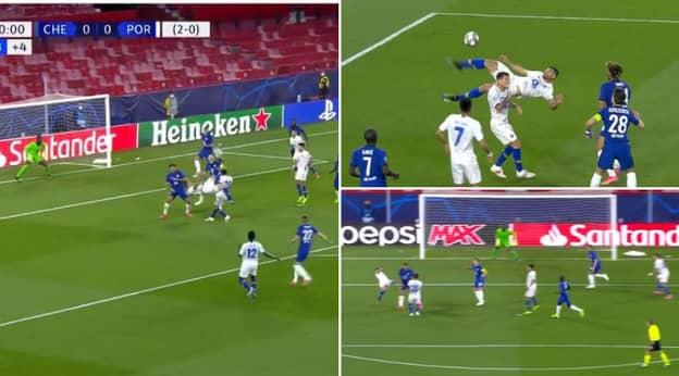Porto Striker Mehdi Taremi Scores World-Class Overhead Kick Against Chelsea In Champions League