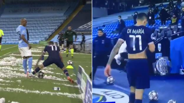 Angel Di Maria Brutally Insulted Fernandinho Before Leaving The Pitch After Red Card