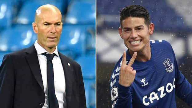 "Real Madrid Are ""Upset"" With Zinedine Zidane Because Of James Rodriguez's Sensational Everton Form"