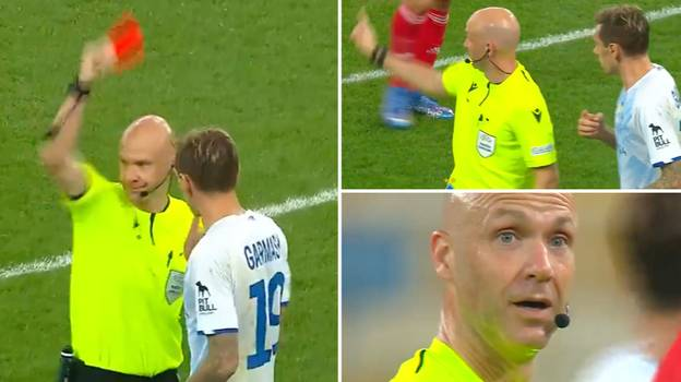 Anthony Taylor Is Forced To Overturn Red Card After Realising Mistake Involving Dynamo Kyiv's Denys Garmash
