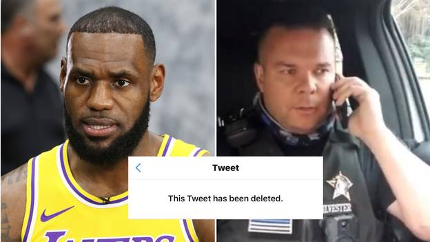 LeBron James' Controversial Deleted Tweet About Police Officer Mocked By Cop In TikTok