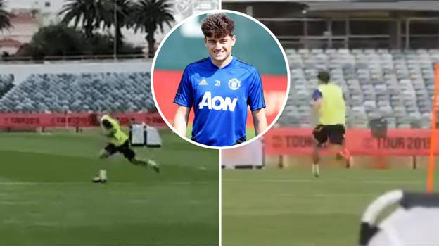Manchester United Post Clip Of Daniel James Doing A Sprint Test
