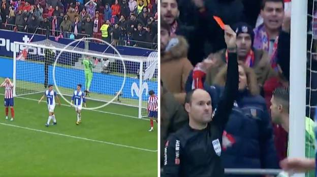 Leganes Goalkeeper Gets Sent Off After Being Pushed By Atletico Madrid Ball Boy