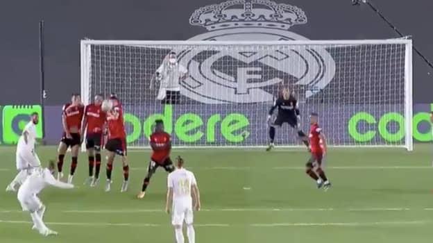 Sergio Ramos Scores Brilliant Free Kick To Add To Scoring Record