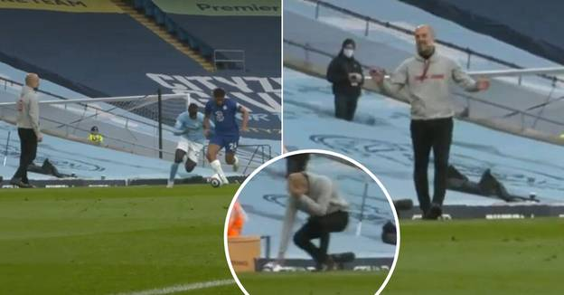 Pep Guardiola's Hilarious Touchline Reaction To Reece James Destroying Benjamin Mendy
