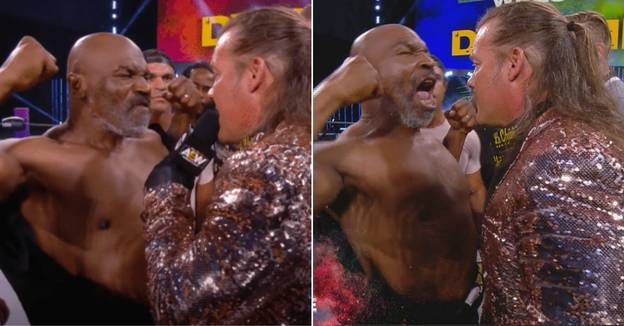 Enraged Mike Tyson Sparks Huge Brawl After Shoving Chris Jericho On AEW