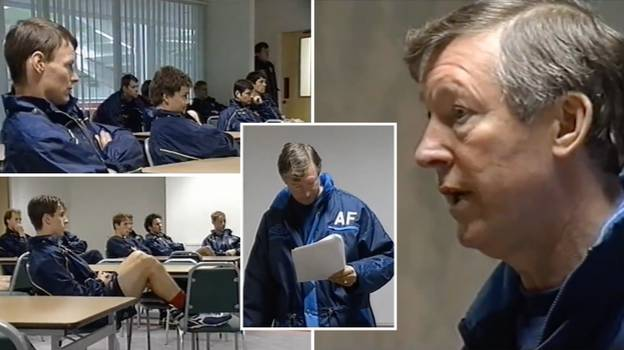 Rare Footage Of Passionate Sir Alex Ferguson Team Talk vs Liverpool Shows Why He's Football's Greatest Manager