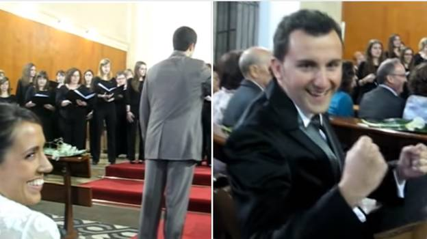 Bride Asked Choir To Sing The Champions League Anthem At Wedding To Surprise Husband