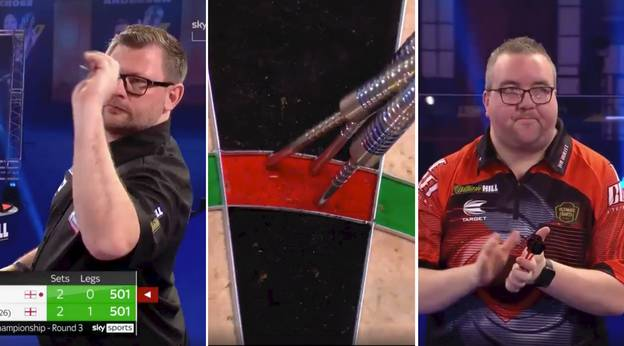 James Wade Hits Incredible Nine-Darter At PDC World Darts Championship