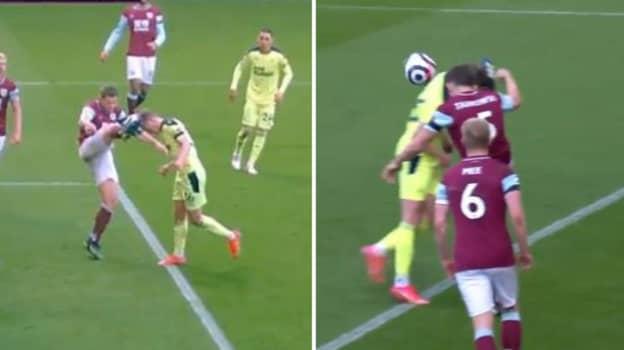 Newcastle United Denied Penalty Against Burnley Despite James Tarkowski High Foot