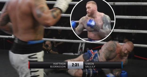 Hafthor Bjornsson Gets Rocked And Hits Canvas In Final Bout Before Eddie Hall Showdown